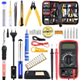 Soldering Iron Kit with Digital Multimeter, ETEPON Upgraded Soldering Iron Kit Electronic Soldering Tools Best for…