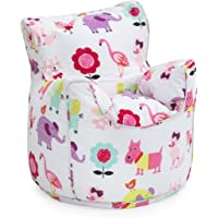 Ready Steady Bed Children's Bean Bag Chair Cute Pets Design Ready Filled
