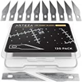 120 lames pour cutter de précision Arteza, Lame cutter acier japonais SK-5, Compatible x acto, Pour scalpel modélisme, scrapb