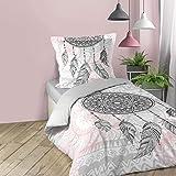 Sängkläder för inomhusbruk, 2 st. 140 x 200 cm, tryck, 42 trådar