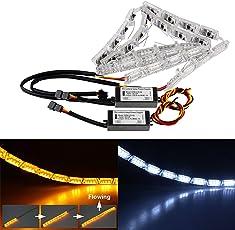 Uniqoutlet Drl Led Strip Light For Swift/I10/I20/Scorpio/Kuv100/Kwid/Ciaz