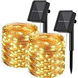 Guirnaldas Luces Exterior Solar, Hepside [2 Packs] Guirnalda Solar 24m 240 LED Luces Led Solares para Exteriores Impermeable
