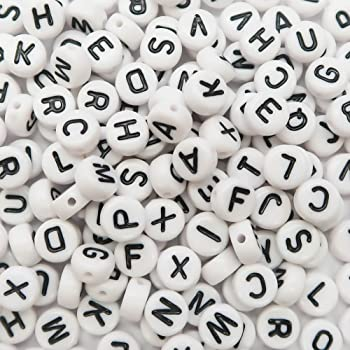 Plastic Alphabet Single Letter Beads for Card Jewellery Making A to Z Cube Beads Size 6*6mm for Key Chains Bracelets Necklaces Festive Christmas Crafts Color Random SUMAJU 500 Pieces Letter Beads