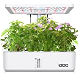 iDOO Coltivazione Indoor con Sistema Automatico di Illuminazione LED, Giardino Intelligente con 12 baccelli, Fioriera da Giar