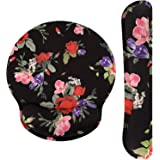 MoKo Keyboard Wrist Rest Pad and Mouse Pad Wrist Support, Ergonomic Raised Memory Foam, Non Slip PU Rubber Base [Pain Relief]