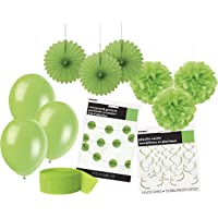 Unique Party 63842 63842-Lime Party Decorations Kit, Lime Green, Pack of 1