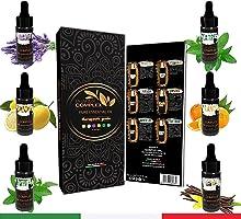 Oli Essenziali Per Diffusori 6x10ML Qualità Made In Italy, Kit Olii Puri Naturali Profumazioni Tea Tree Vaniglia Limone...