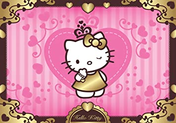 Hello Kitty Pink Gold Hearts Wallpaper Mural Amazoncouk