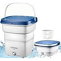 Mini machine à laver pliable, jusqu'à 1,5 kg, lave-linge de voyage, de camping, portable, puissance : 135 W, processus…