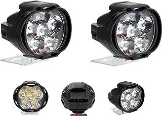 A2D L3C 6 LED Transformer Bike Fog Light for Mahindra Duro 125 (Set of 2)