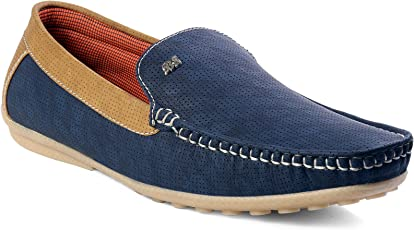 shoebox Men's Blue Loafer Shoes