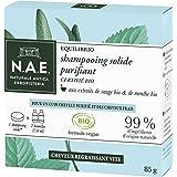 N.A.E. - Shampooing Solide Certifié Bio - Purifiant Cheveux Gras - Extraits de Sauge Bio et de Menthe Bio - Formule Vegan - 1