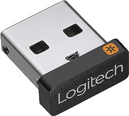 Logitech Unifying-Empfänger (für Mäuse und Tastaturen, verbinden von bis zu 6 Geräten, 10 Meter Reichweite)