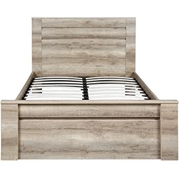 @home by Nilkamal Won Queen Size Bed Without Storage (Melamine Finish, Walnut)
