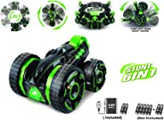 Popsugar 6 in 1 Double Sided Stunt Car with Rechargeable Battery and Charger Toy for Kids and Adults (See Video), Green