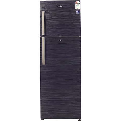 Haier 347 L 2 Star Frost Free Double Door Refrigerator  HRF 3674BKS E, Black Brushline