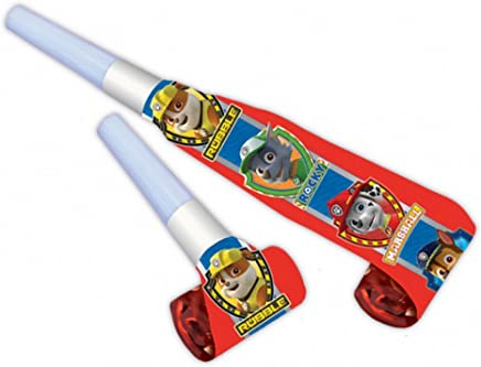 Amscan Paw Patrol Birthday Party Blowers (Pack Of 8)