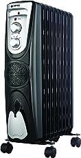 VITEK VT-1709 BK-I 2500 Watts - 9 Fin Oil Filled Radiator with PTC Fan Heater (Black)