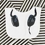 DJ Headphones Baby Bib