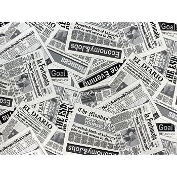 Tissu d 39 ameublement au m tre imprim journaux 4 cuisine maison - Tissu ameublement au metre ...