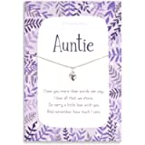 Auntie Sterling silver necklace | chain and heart pendant gifts for Aunty | Aunt gift her | women Auntie | birthday card…