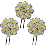 3 stuks. G4 Mini LED 2W 12V AC/DC 9x5630 SMD warm wit dimbaar 120° ronde spot spaarlamp halogeenset A++ PB-Versand®