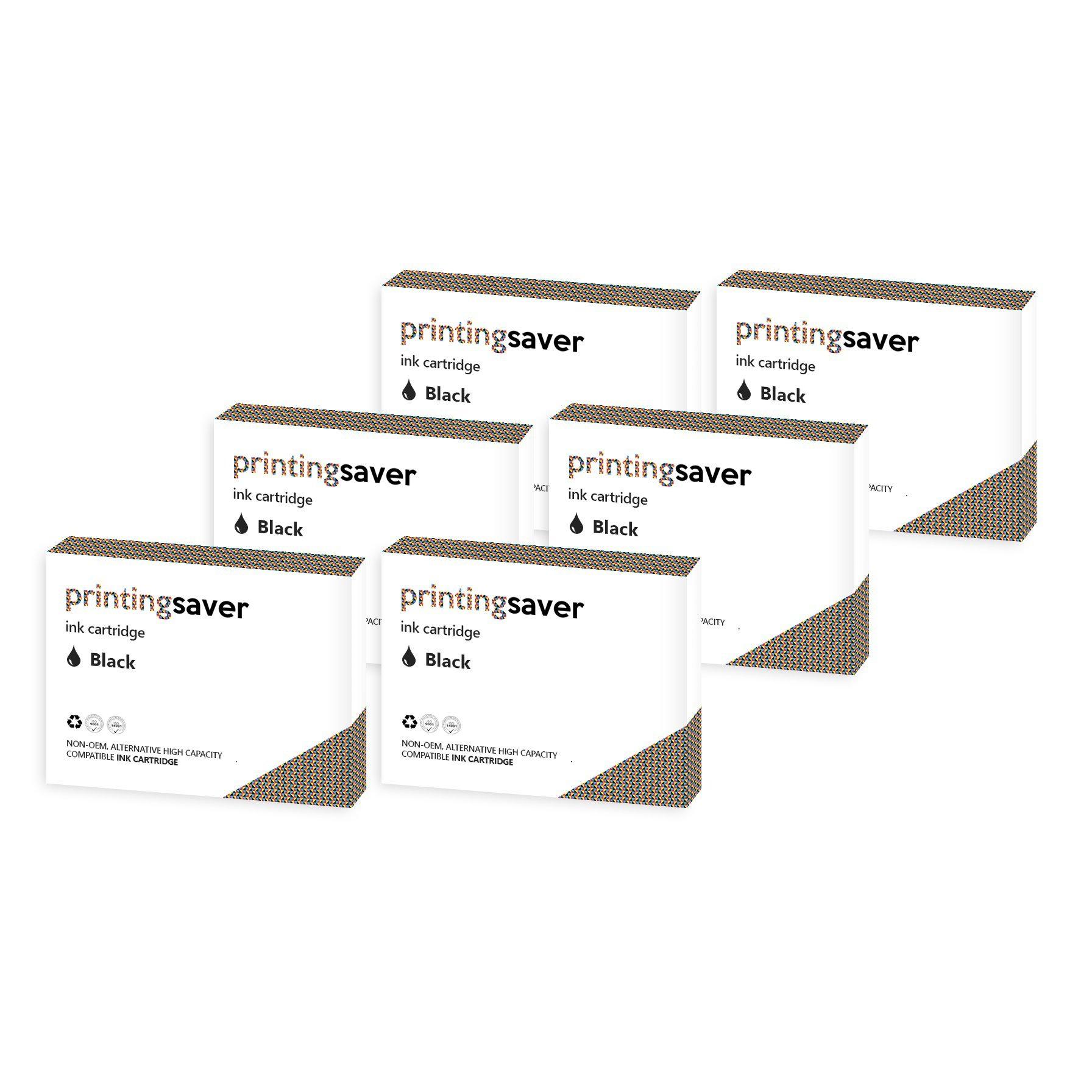 6xNERO cartucce d'inchiostro compatibili per EPSON WorkForce WF-3620DWF, WF-3640DTWF, WF-7110DTW, W