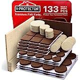 X-Protector - Juego de almohadillas para muebles de 2 colores, 133 unidades, almohadillas de fieltro para muebles, 106 color