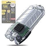 Nitecore Tube Keychain Light - USB Rechargeable 55 Lumens 9.6 g [New Version - 2021] [ Transparent ]
