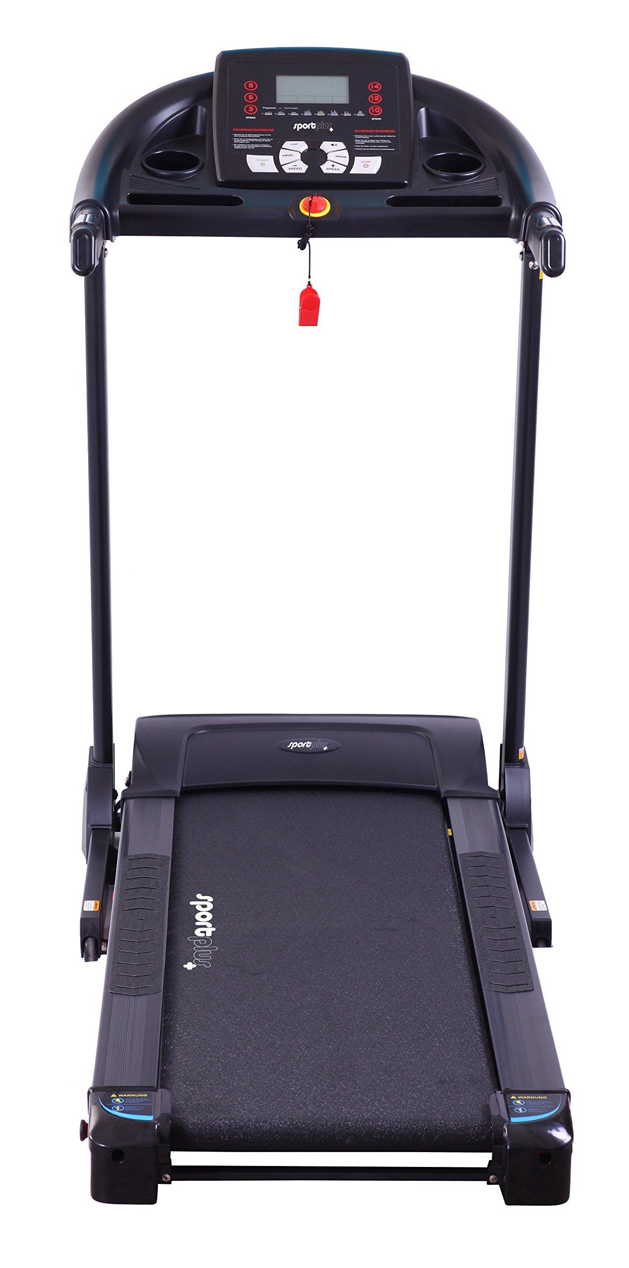 Sport Plus–Tapis roulant Professionale con Motore Regolazione della Pendenza, Silent e Sistema Ammortizzante Multipoint, Sicurezza Testato Secondo EN ISO 20957–1, EN 957–6 5 spesavip