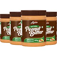 Alpino Natural Peanut Butter Smooth 1.6 KG | Unsweetened | Made With 100% Roasted Peanuts | No Added Sugar | No Added…