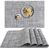 HomEdge Mantel individual de PVC, 4 piezas de manteles individuales antideslizantes resistentes al calor, lavables de vinilo,