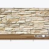 KLINOO keukenachterwand in steen-look als spatbescherming - muurbescherming beige