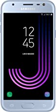 Samsung Galaxy J3 (2017) Smartphone, Blue Silver, 16 GB Espandibili, Dual SIM [Versione Italiana]