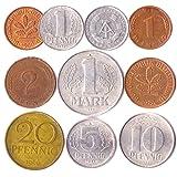 10 Deutschland Münzen Aus Ost- Und Westeuropa: Pfennig, Mark 1948-2001. Perfekte Wahl Für Ihre Spardose, Münze Inhaber Und Mü