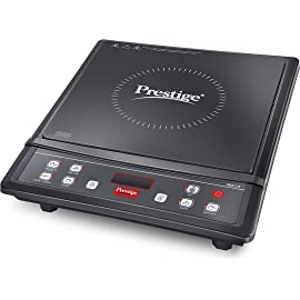 Prestige Iris 1.0 1200 Watt Induction Cooktop with Push Button  Black