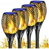 Shinmax Lumière solaire de torche, Lumières Flamme Solaire Exterieur 33 LED IP65 Imperméable,Décoration Éclairage Crépuscule
