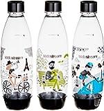 SodaStream 3000143 3er-PackKunststoff-Flaschen, groß, blau 26,5x 9x 26cm, Modell sortiert