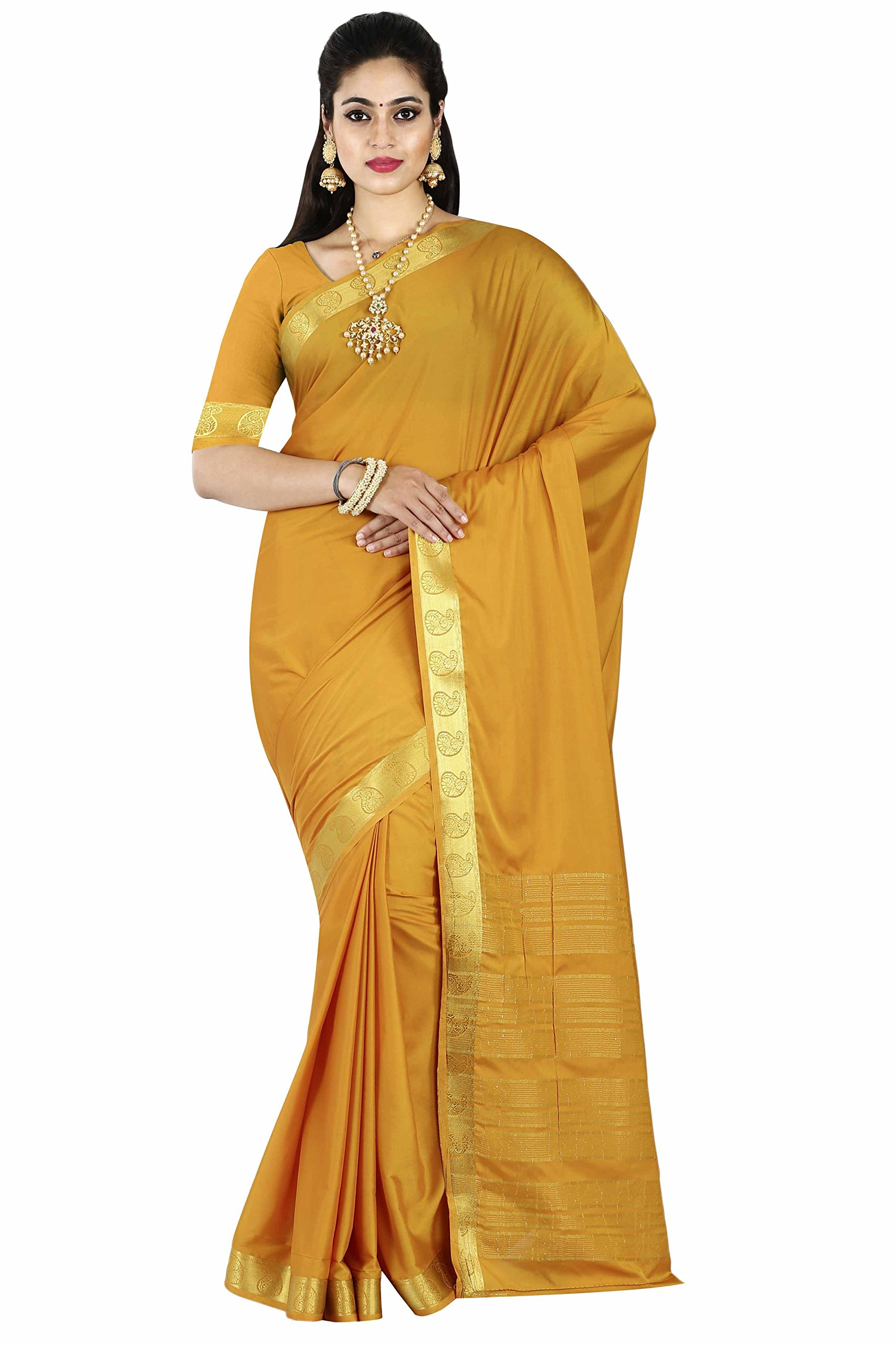 255238554f Arars Women's Art Silk Saree With Blouse Piece 208 Cr