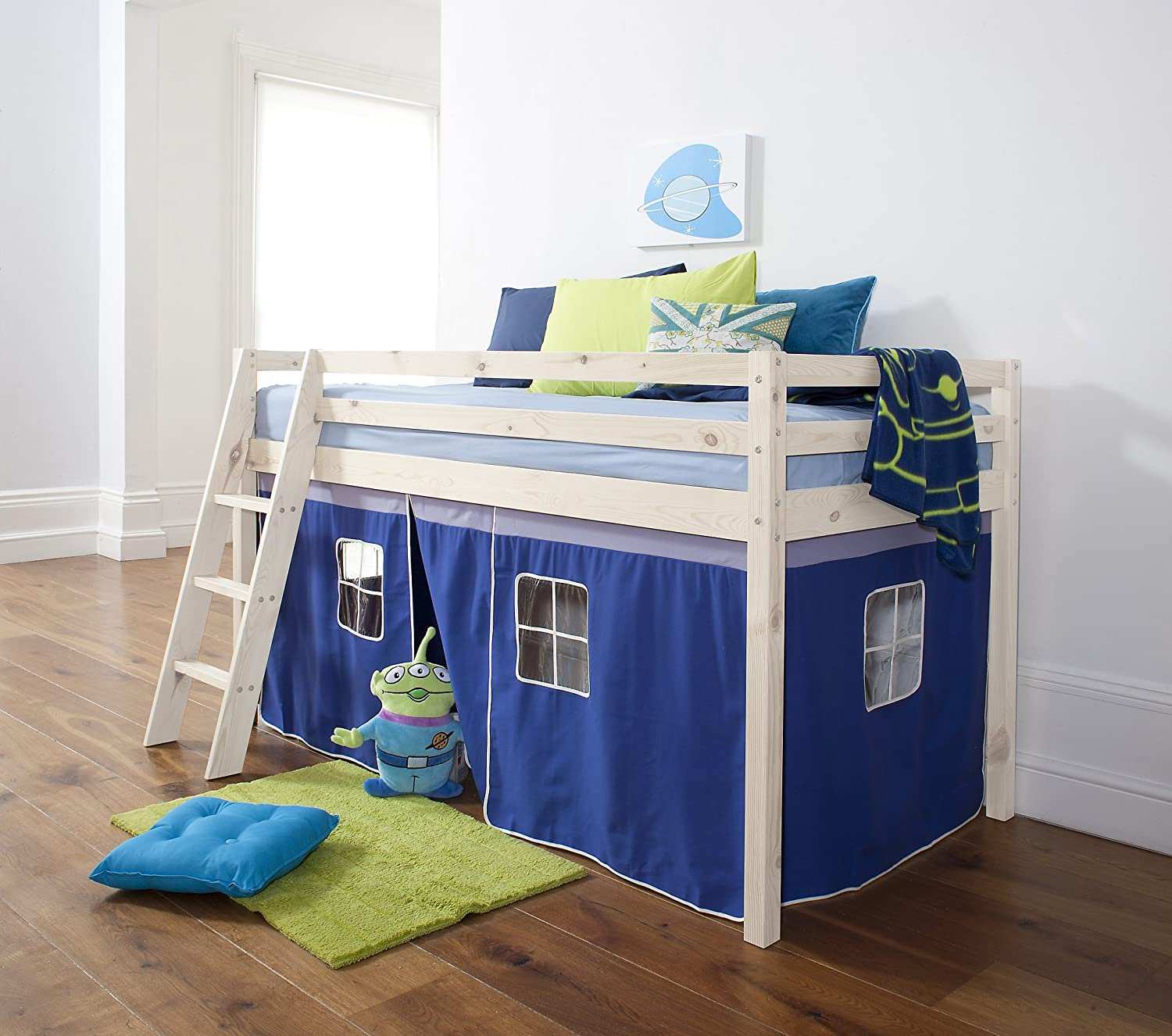 Cabin Bed Tent for Midsleeper Bed in Choice of Colours (Blue) Amazon.co.uk Kitchen u0026 Home & Cabin Bed Tent for Midsleeper Bed in Choice of Colours (Blue ...