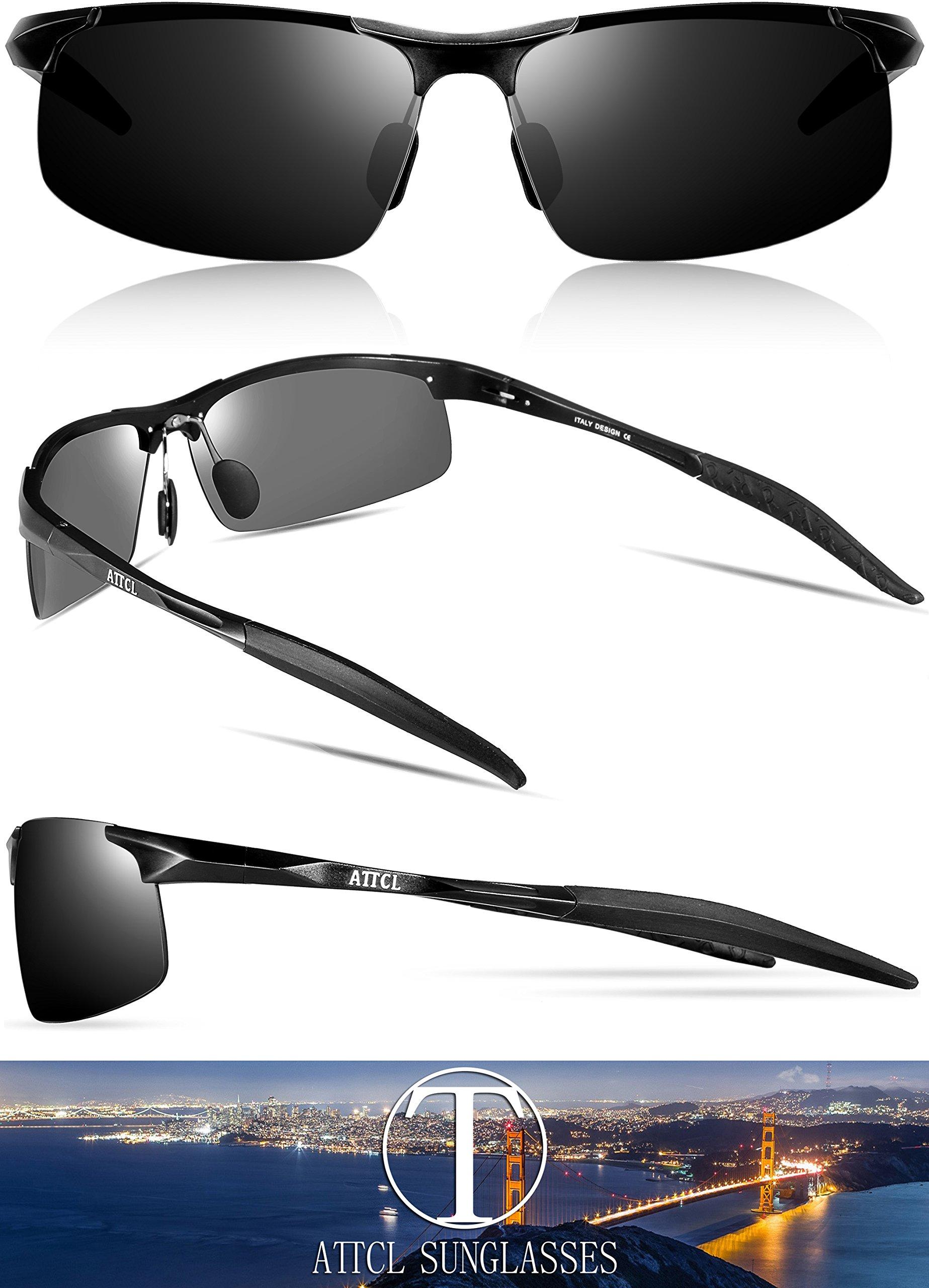 a7a274028f ATTCL Mens Fashion Driving Polarized Sunglasses Man Al-Mg Metal ...