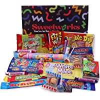Retro Sweets Gift Box – Packed with 26 Kid's & Adult's Favourite Sweets, Old School Retro Favourites, 90's Childhood…