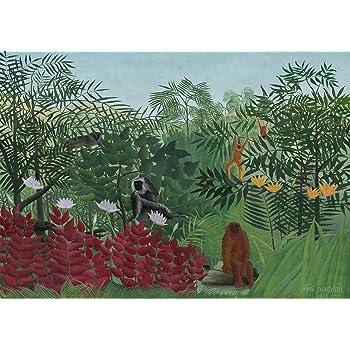 Henri Rousseau: Tropical Forest with Monkeys. Fine Art Print/Poster. Size A1 (84.1cm x 59.4cm)