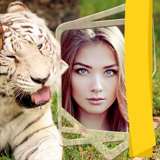 Tiger-Fotorahmen -