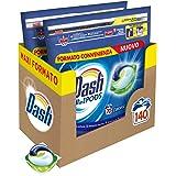 Dash Pods Allin1 Detersivo Lavatrice in Capsule Regolare, Maxi Formato da 70 x 2 Pezzi, 140 Lavaggi