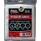 Axus Decor AXU/DSP129 Polytheen stofplaat drievoudig pakket, kleurloos, 3,66 m x 2,74 m, set van 3 stuks