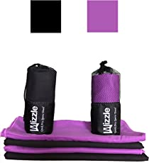 Mizzle Microfiber Towel - 150cm x 80cm – Quick Dry Sports + Travel Towel – Fast Drying, Super Soft, Lightweight. Includes Storage Bag - For Travel, Swimming, Gym, Sports, Camping, Beach, Yoga, Golf etc...