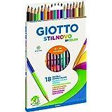 Giotto Stilnovo Bicolor Lápices de Colores, Estuche 18 Unidades