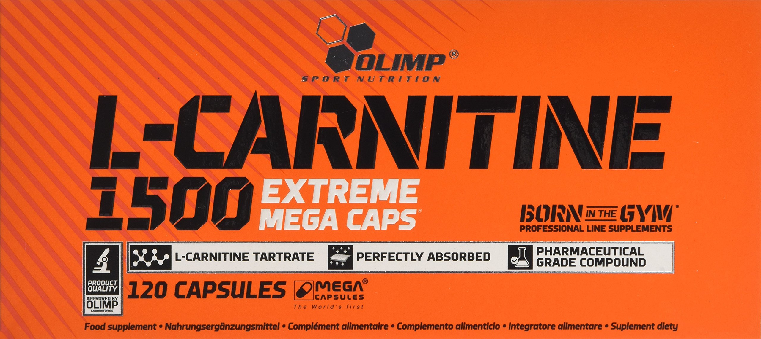 Olimp L-Carnitine 1500 Extreme Mega Capsules – Pack of 120 Capsules