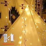 Guirlande lumineuse, de mycozylite®, blanc chaud, 100LED(10m), ligne électrique 5m, Décoration pour intérieur et extérieur, T
